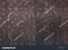 artist wall wood wood wall muslim pattern islamic pattern stock photo 357640649