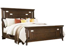 broyhill estes park king panel bed in artisan oak 4364