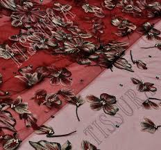 embroidered tulle fabric exclusive fabrics from italy by aldo
