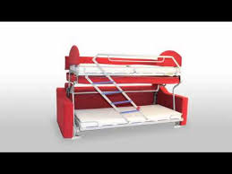 Bunk Bed Sofa by Slumbersofa Duo Space Saving Bunk Bed Sofa Bed From Spaceman Youtube