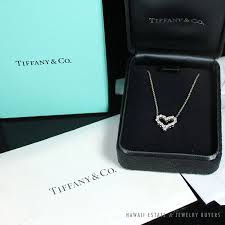 tiffany and co ls authentic tiffany co heart necklace mini in platinum w