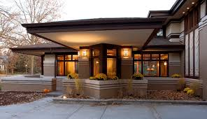 prairie style home prairie style home front cantilever modern exterior