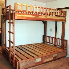 Safety Rail For Bunk Bed Wooden Bunk Beds Forever Redwood