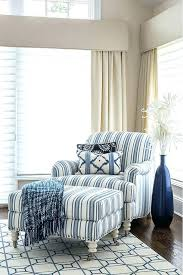 navy blue chair and ottoman blue and white striped chair blue chair and ottoman hlf ottomn