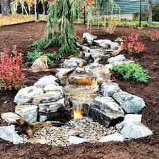 Backyard Waterfall Ideas by Garden Design Garden Design With Artscapes Backyard Waterfalls