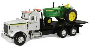 peterbilt truck dealer 46212 1 16 john deere dealer peterbilt 367 flatbed with jd 4020