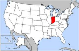 indiana map us indiana on the us map indiana map