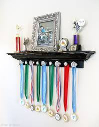 Gymnastics Room Decor Trophy And Medal Awards Display Ideas Driven By Decor