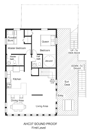 canalfront vacation rental sound proof ahc37 sound proof floor plan level 1 jpg