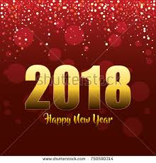 new year post cards happy new year 2018 postcard stock vector 750590314