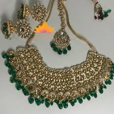 green necklace set images Green sabyasachi jewellery JPG