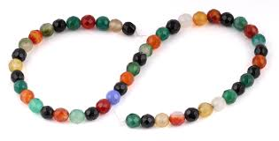 multi colored stones necklace images 8mm multi color agate faceted gem stone beads gif