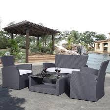 Wicker Table And Chairs Outdoor Pe Rattan Wicker Sofa Set Outdoor Indoor Patio Garden Lawn