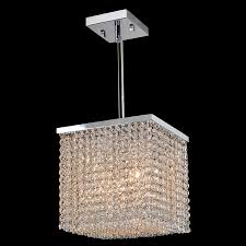 Small Crystal Pendant Lights by Worldwide W83726c10 Prism Small 10 Inch Diameter 4 Lamp Pendant