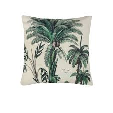 coussin imprime imprimé palmiers