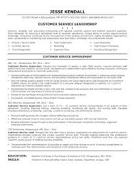 customer service supervisor resume 4 customer service
