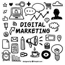 doodle vectors free digital marketing doodles vector free