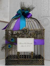 peacock wedding peacock wedding birdcage card holder wedding card box