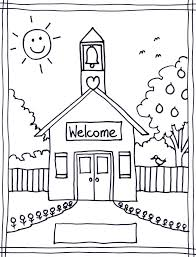 Coloring Page Of A School Coloring Pages Of School House Coloring Pages Wallpaper by Coloring Page Of A School