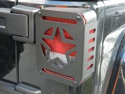 jeep wrangler brake light cover jeep wrangler jk 2007 2016 military star rear tail light covers