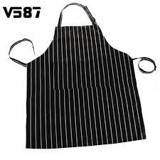 tablier cuisine noir noir adulte tablier cuisine restaurant bar chef cuisinier serveur