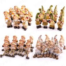 12x elves frogs gnomes outdoor ornaments garden pixie ornament