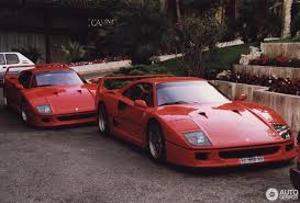 ferrari supercar 1993 monaco supercar spotting photos showing two ferrari f40s a