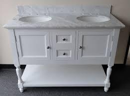 wonderful worthington 48 vanity in white transitional bathroom