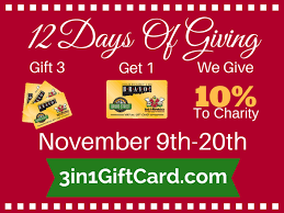 gift card sale our 12 days of giving gift card sale is here bravo