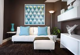 turquoise brown and living room decor for home interior ideas