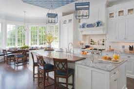 Traditional White Kitchen Images - classic white and blue kitchen