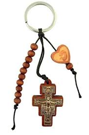 20 decade rosary wooden prayer bead one decade rosary with san damiano crucifix