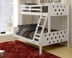 White Twin Over Full Bunk Bed With Stairs Circles White Solid Wood Twin Over Full Bunk Bed Dream Rooms
