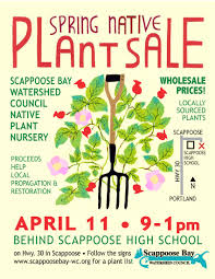 native plant nurseries scappoose bay watershed council sbwc spring native plant sale