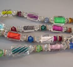 art glass necklace images Colorful brilliant art glass bead necklace pierced earrings jpg