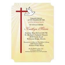 confirmation invitations confirmation invitation cross dove gold rays zazzle