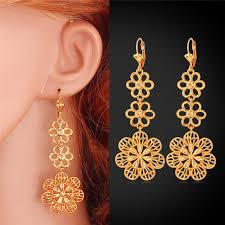 trendy gold earrings drop earrings for women new items trendy charms jewelry gold