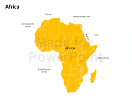 africa map africa map editable powerpoint slides