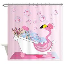 Flamingo Shower Curtains Bath Time Flamingo Shower Curtain By Naturessol