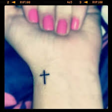 left wrist small cross