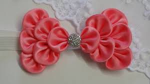 how to make kanzashi hair bow diy ribbon bow baby headband