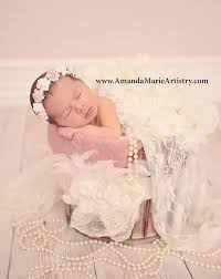 baby flower headbands pink and ivory newborn flower crown baby flower crown