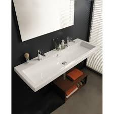 double trough sinks for bathrooms best sink decoration
