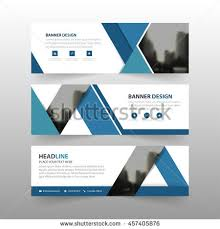 layout banner template blue triangle corporate business banner template stock vector