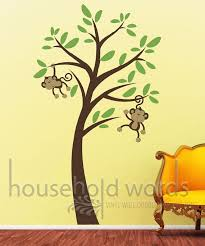 Nursery Monkey Wall Decals Monkey Wall Decor Pictures Inspiration Wall Design