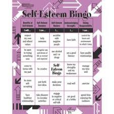 self esteem bingo ota activities pinterest bingo the family