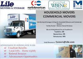 hiring movers household movers commercial movers in tualatin or united