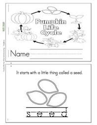 life cycle of a pumpkin mini booklet free printable decodable