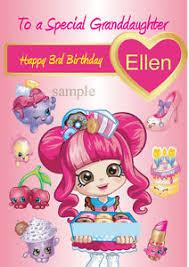 personalised shopkins donut girls birthday card niece daughter