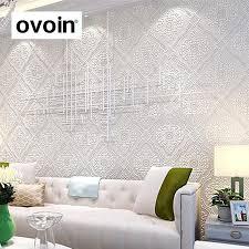 gold white textured 3d embossed wallpaper metallic classic luxury